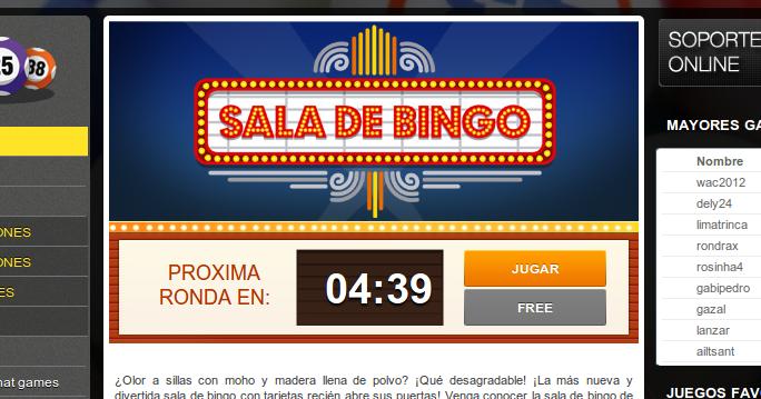 Juego de bingo en los que se puede chatear - Bingo en ...