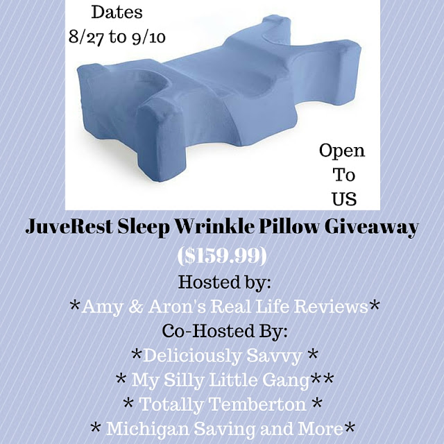 Enter the JuveRest Sleep Wrinkle Pillow Giveaway. Ends 9/10