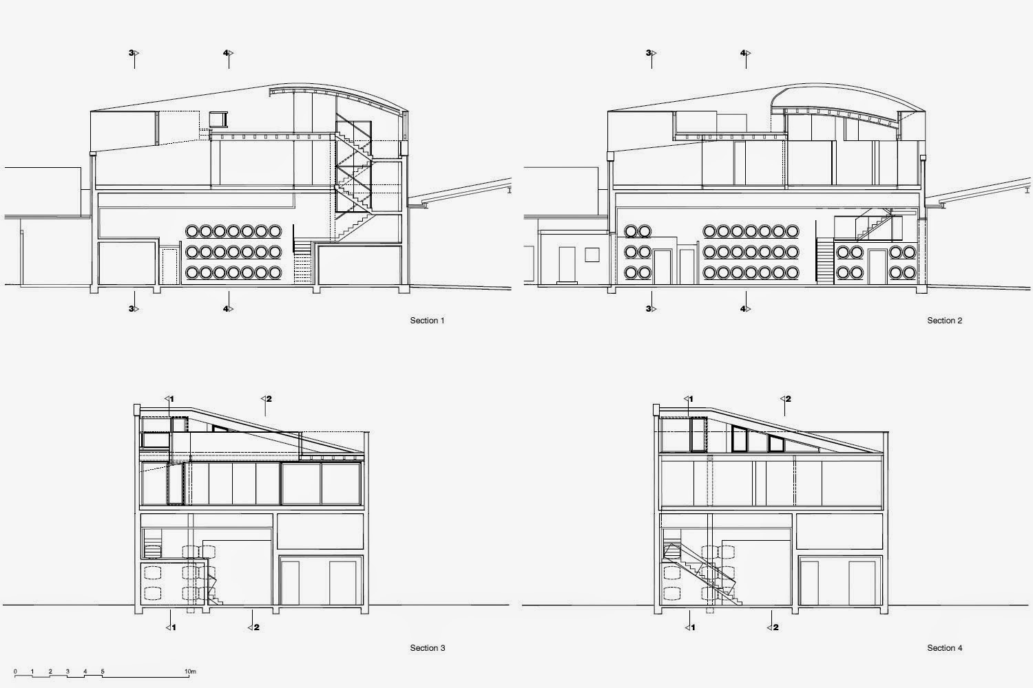 A daily dose of architecture erich sattler winery for Winery floor plans by architects
