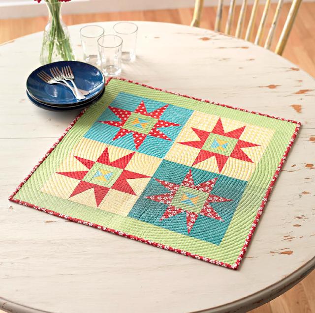 twinkle modern mini quilt