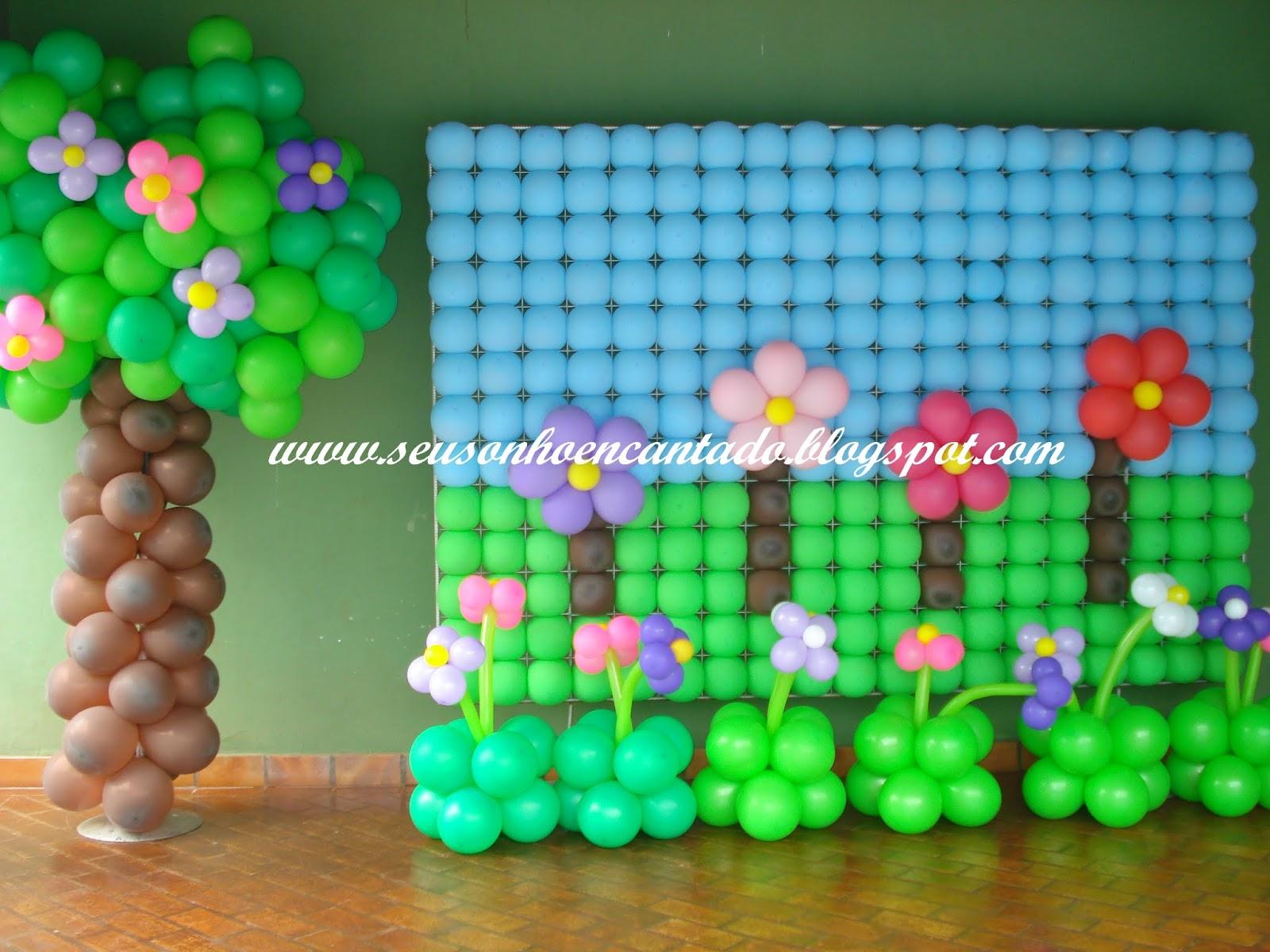"""decoracao de balões jardim encantado:Sonho Encantado Decorações: Tema """"Jardim Encantado"""""""
