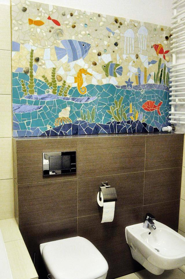 mozaikowy obraz - już w łazience :)