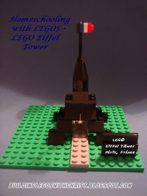 LEGO Eiffel Tower, Using LEGO bricks to Homeschool, Using LEGO bricks in Geography