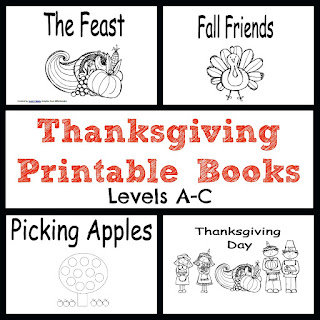 thanksgiving emergent readers, thanksgiving printables, fall activities, teachers pay teachers, ready set read
