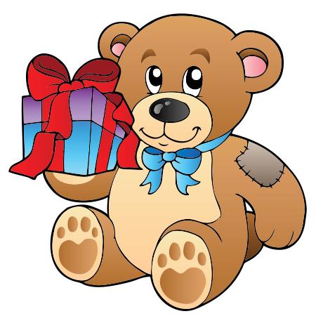 Gift bear icon