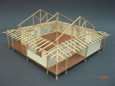 Detalle de la construccion de la Casa Japonesa