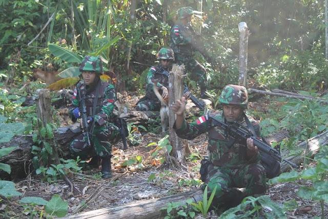 Aksi Prajurit TNI Lintasi Medan Berat Untuk Cek Patok di Perbatasan RI-Papua Nugini