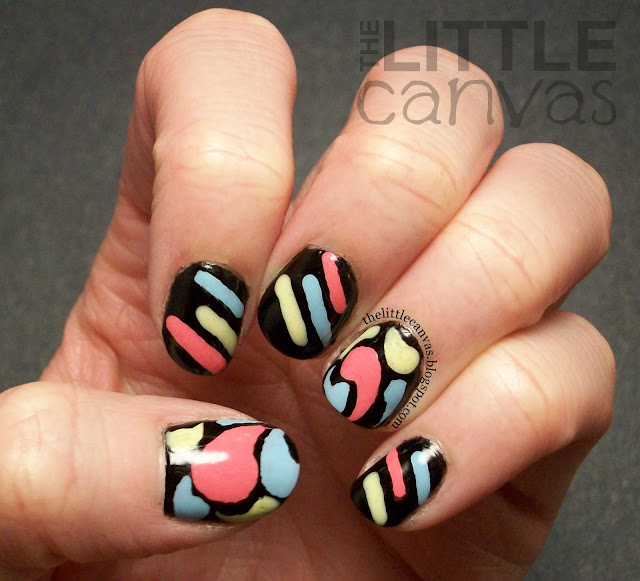 """The Little Canvas: Triplet """"Jazzy"""" Nail Art"""