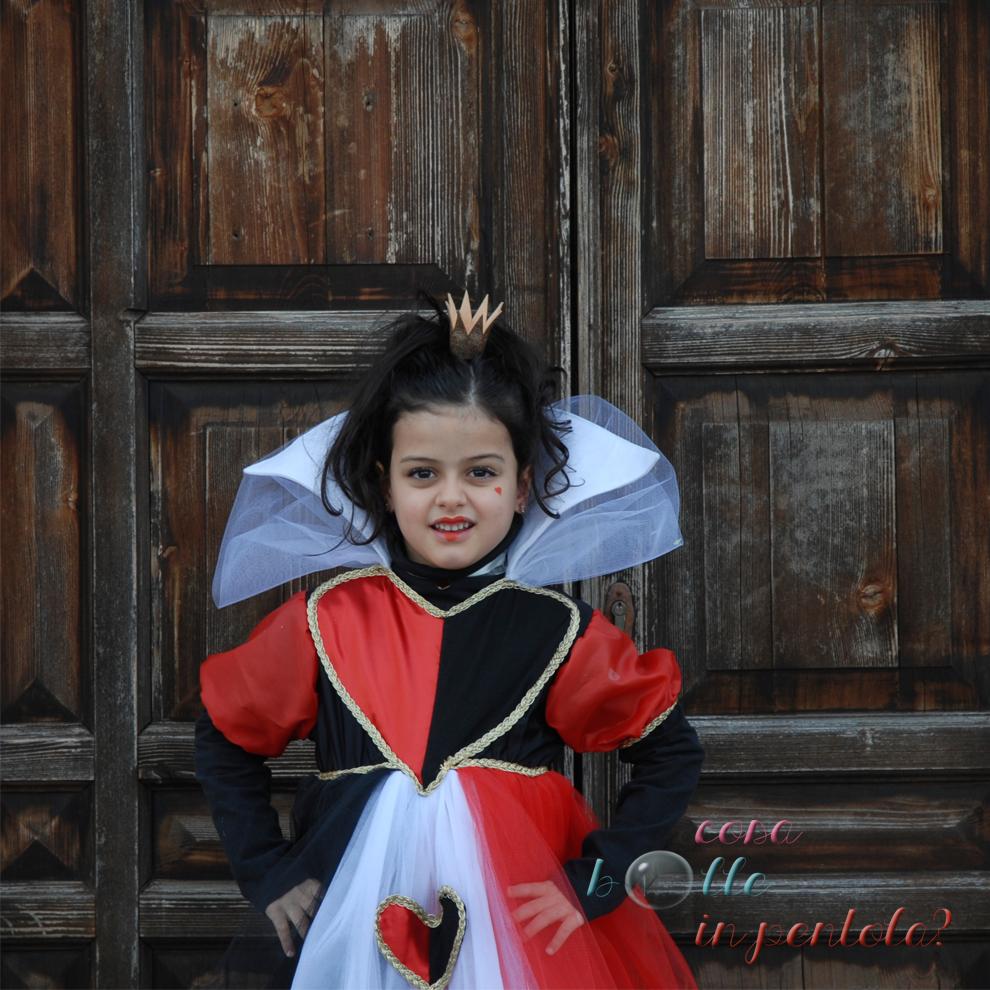 fare costume carnevale regina di cuori