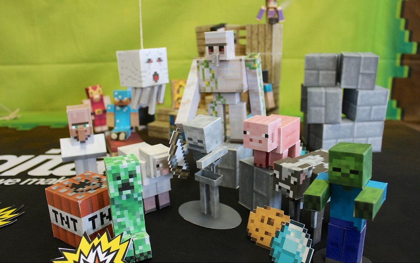 figuras de minecraft en papercraft