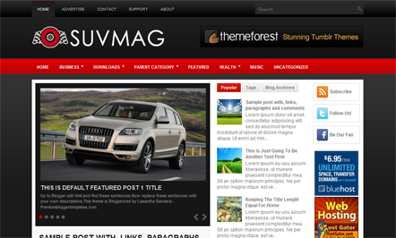 suvmag blogger template 25+ Best Free Magazine Blogger Templates for 2013 Download
