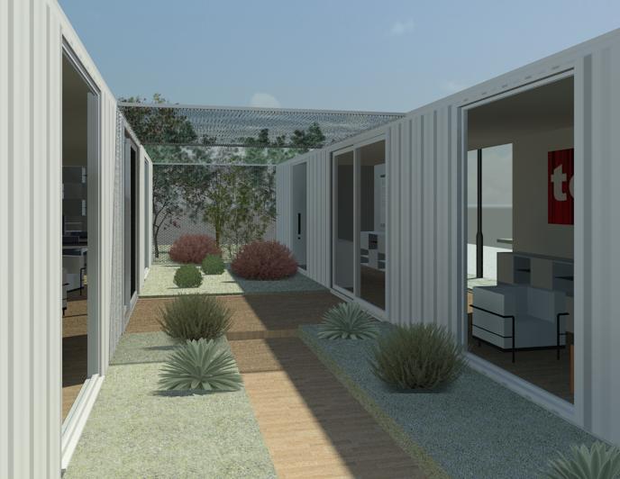 Tercera piel contenedores habitables propuesta oficina for Contenedores de oficina