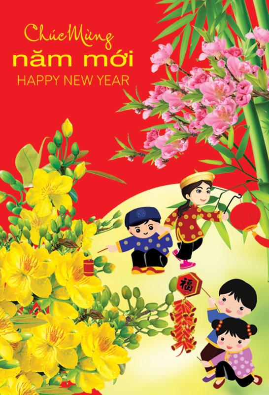 Thiệp chúc mừng năm mới đẹp và độc đáo - Hình ảnh 15