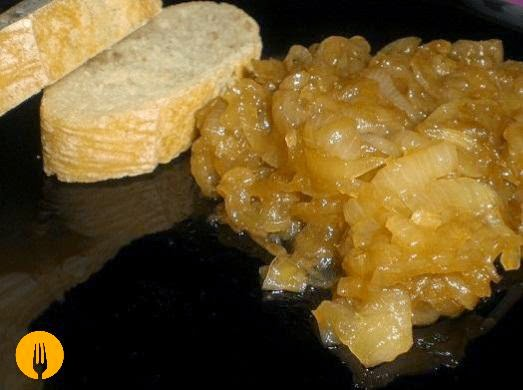 receta cebolla caramelizada confitada