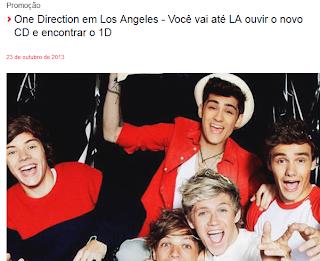 "Concurso ""One Direction em Los Angeles"""