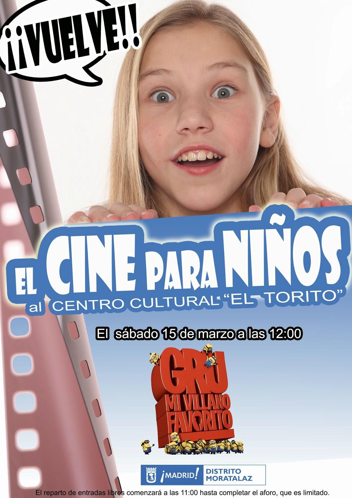 cartel cine niños moratalaz