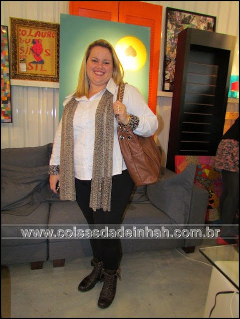 look do dia camisa branca animal print inverno 2012 casual
