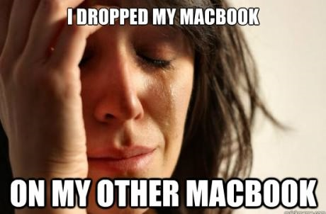 I dropped my macbook !