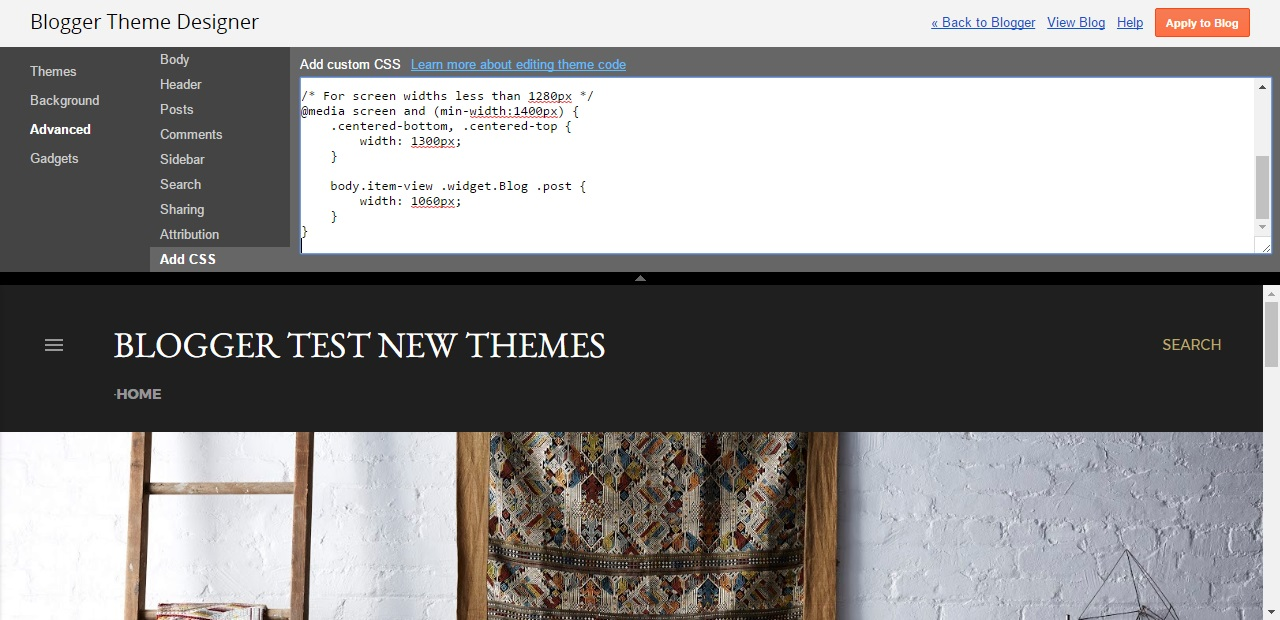 Gmail theme css -  In The Add Custom Css Text Field Enter The Copied Css Code From The Previous Section It Should Look Like This