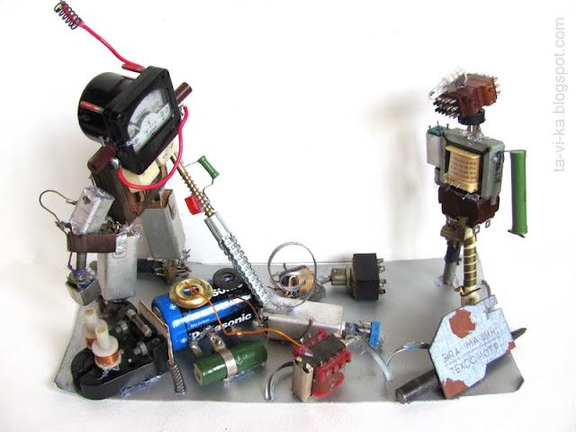 Поделка  - роботы