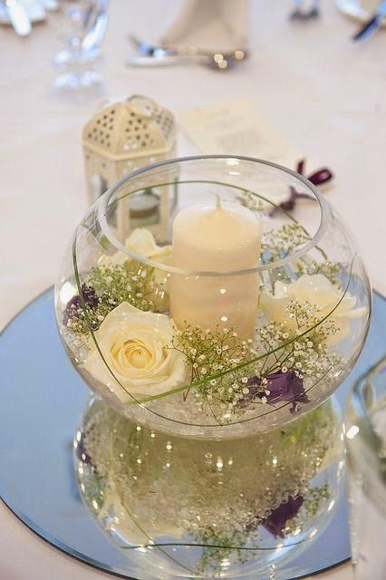 centros mesa velas bodas