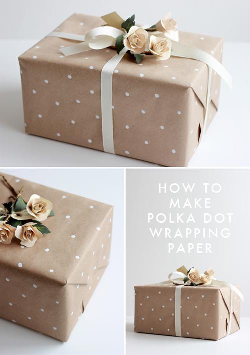 embrulhos e sacolas para presentes Polka-dot-gift-wrapping-lars