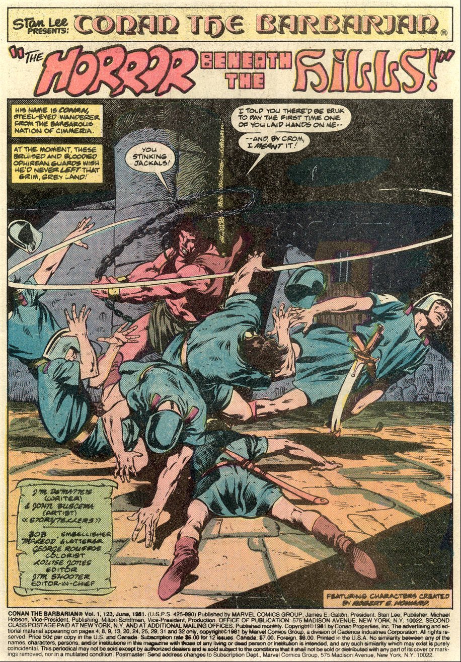 Conan the Barbarian (1970) Issue #123 #135 - English 2