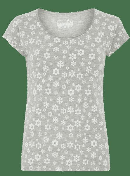 Primark online: camiseta en gris con estampado de copos de nieve