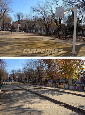 Baloncesto y Petanca en Aranjuez Parque de Pavía