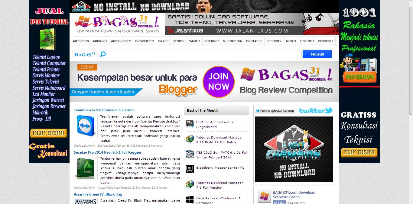 BAGAS31.com, Tempatnya Download Software Gratis