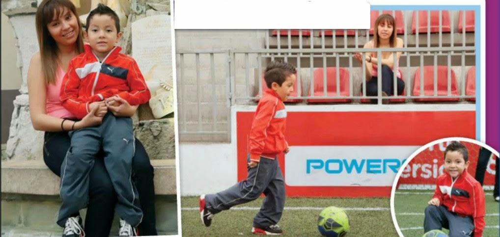 Cesarín hijo del futbolista César Villaluz