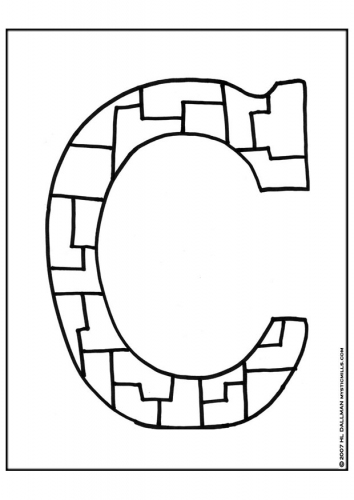 Coloring Pages For Kids Coloring Pages Letter C