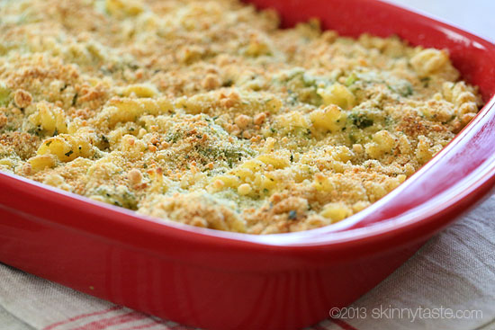 Skinny Baked Broccoli Macaroni and Cheese | Skinnytaste