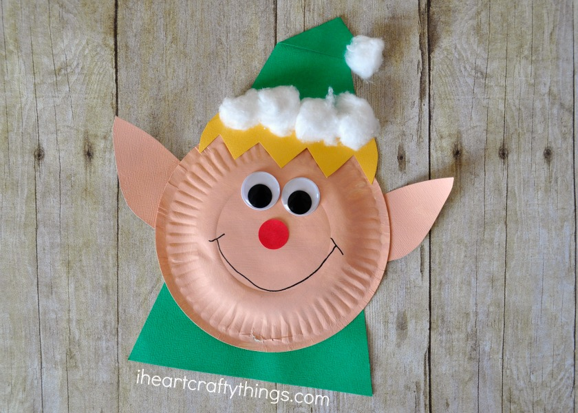 Paper Plate Christmas Elf Craft & Paper Plate Christmas Elf Craft | I Heart Crafty Things