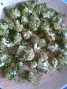 green roasted cauliflowers