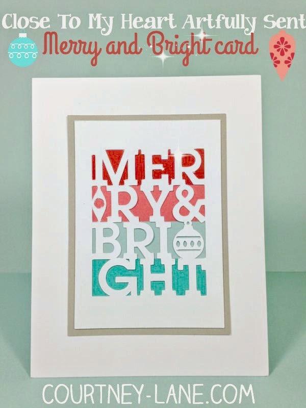 Close To My Heart Artfully Sent Cricut cartridge Simple Christmas card!