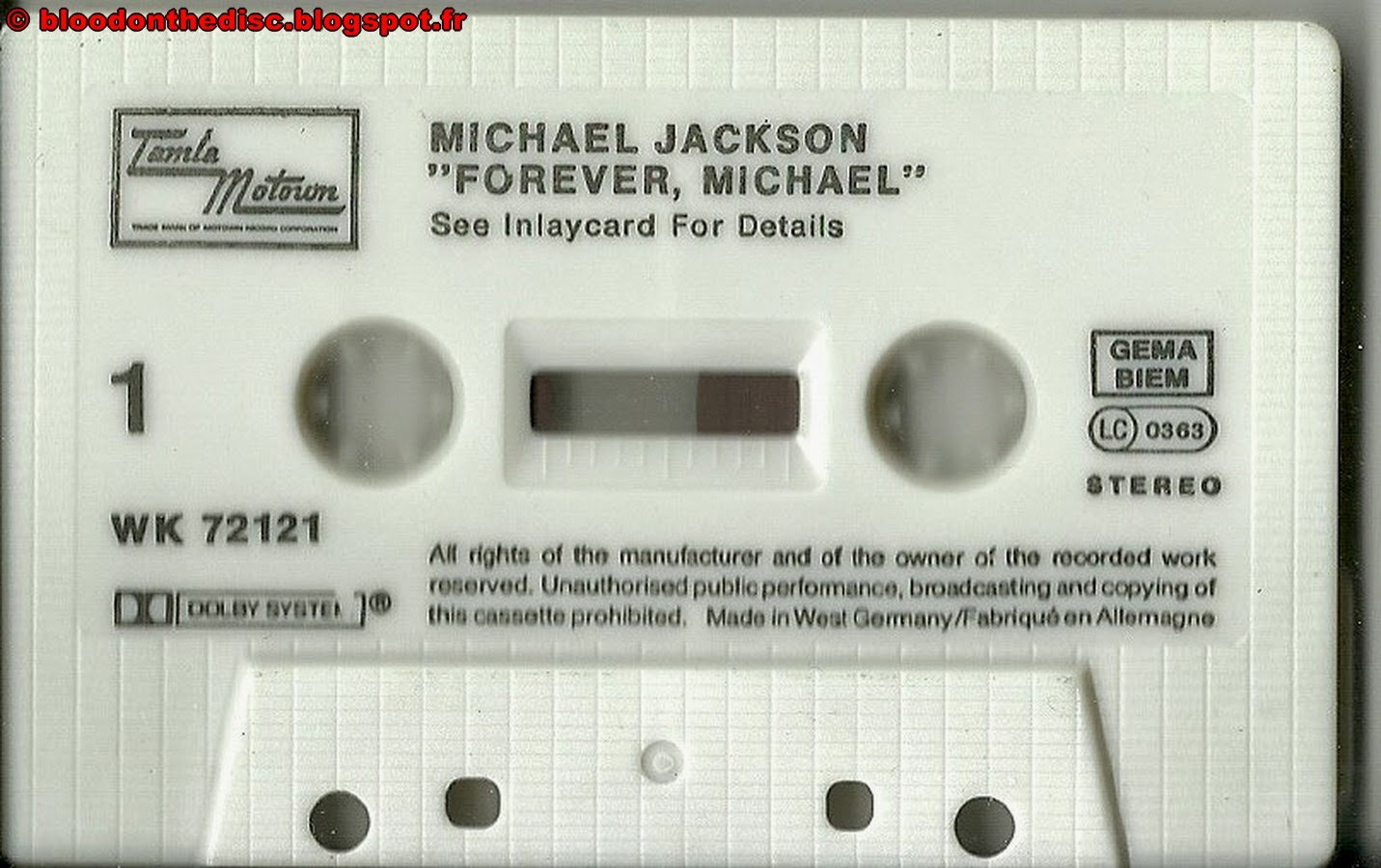 Forever Michael K7 Side 1