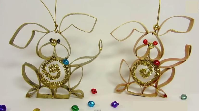 Perrito de navidad hecho en casa facil rapido y reciclable cosas hechas en casa - Cosas de navidad para hacer en casa ...