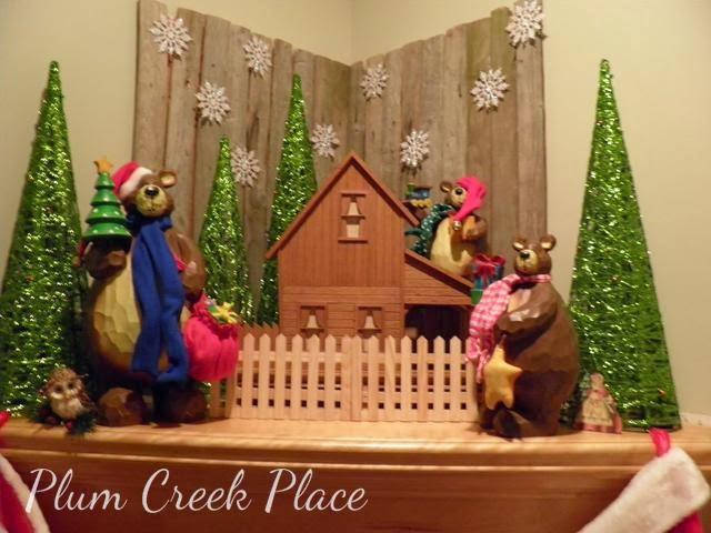 Corner fireplace Christmas mantel,  Christmas mantel