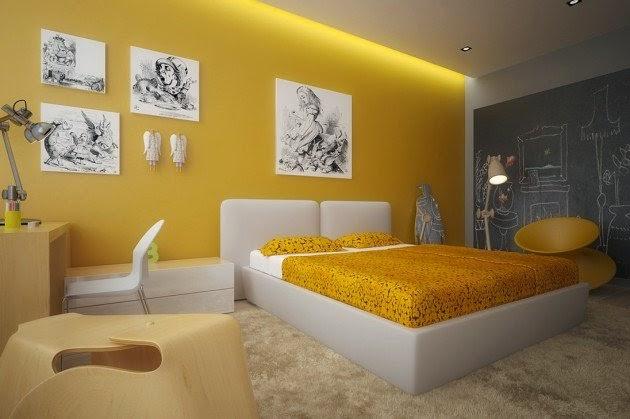 chambre en jaune