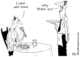 restaurant and waiter cartoon