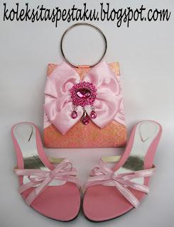 Tas Pesta SOngket Pink Baby