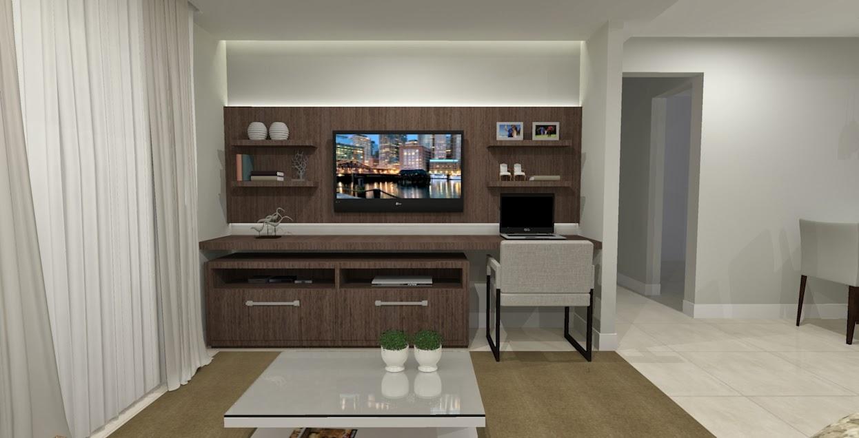 Salas E Cozinha Ambientes Integrados Seu Sonho Desenhado -> Acabamento Para Sala De Estar