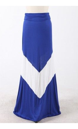 Bold Chevron Maxi Skirt