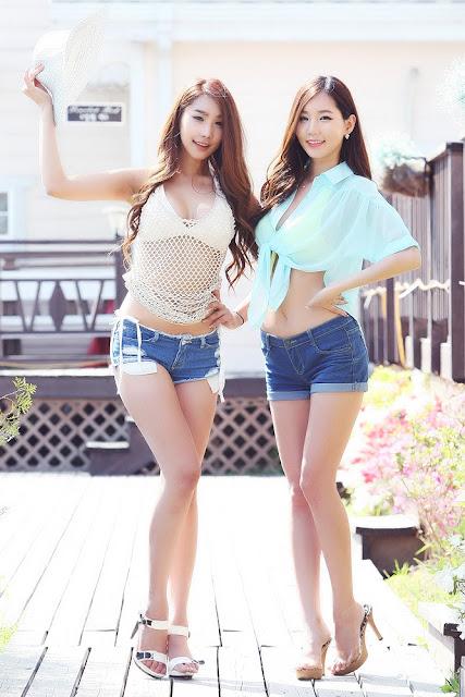 Lee Ji Min in Short Jeans