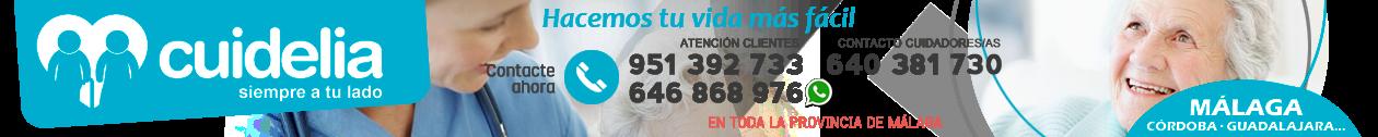 CUIDELIA · 951 392 733 · Cuidado de mayores en Málaga
