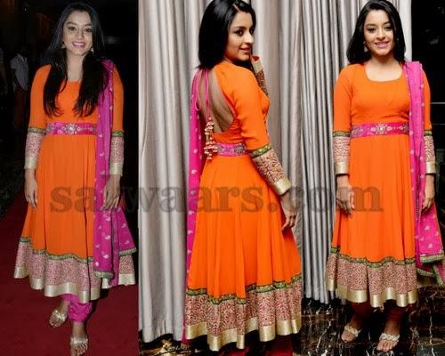 Alisha Baig Orange Salwar