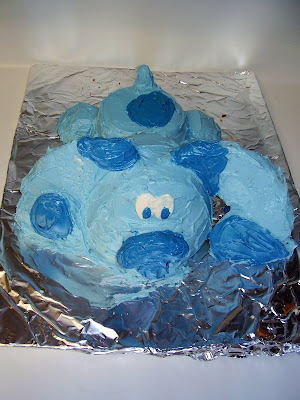 3D Blue's Clues Cake - Overhead View