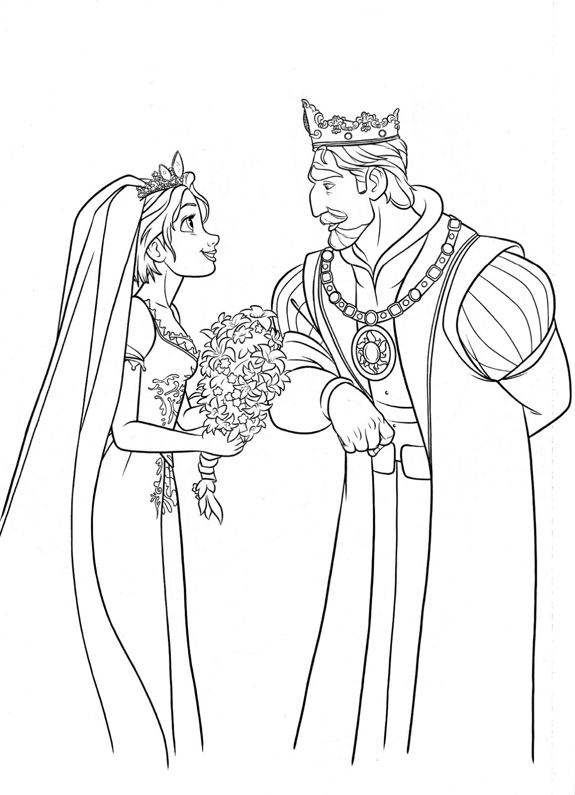 free rapunzel baby coloring pages