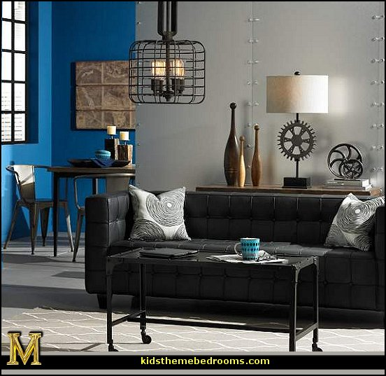 Decorating theme bedrooms maries manor industrial style for Bedroom ideas industrial
